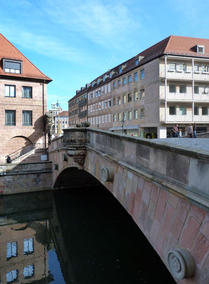 Fleischbrücke (Meat Bridge) Schrägansicht von Südwest
