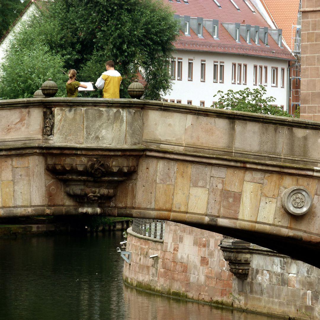 Fleischbrücke (Meat Bridge) östliche Brückenkanzel