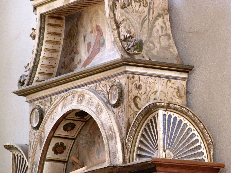 Flötner-Altar (Ansbach) Ädikula, Detail