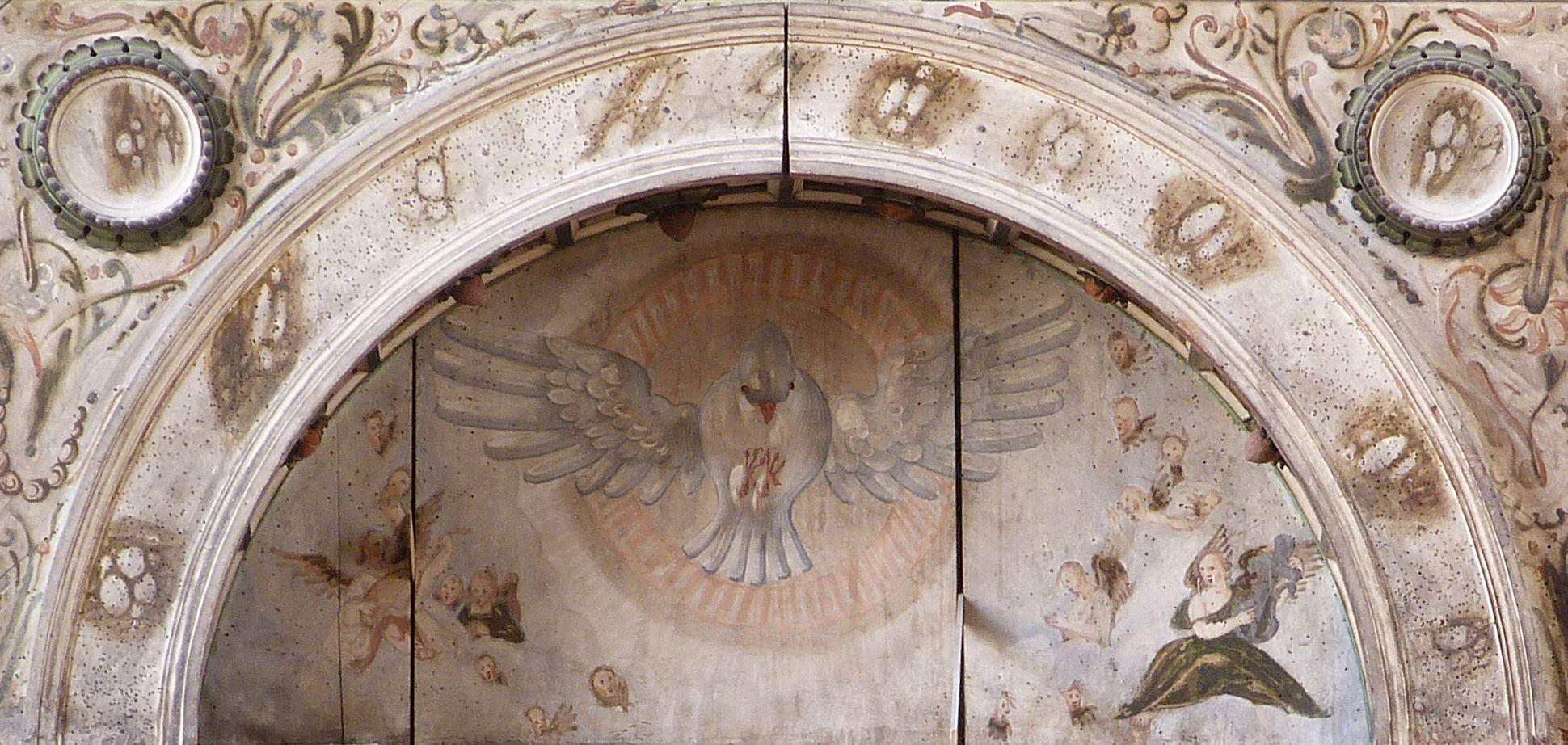 Flötner-Altar (Ansbach) Bogen mit Heiligem Geist