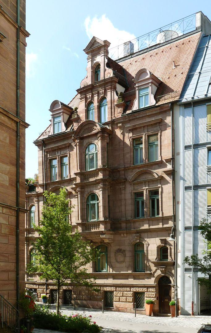 Residential Building, Großweidenmühlstraße 1 North front