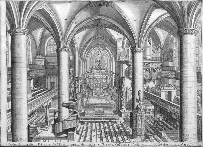"""Urbis Norimbergensis Insigniorum Templorum…"" Frauenkirche (Our Lady´s Church)"