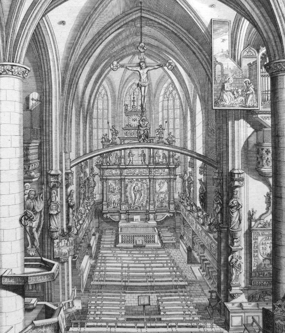 """Urbis Norimbergensis Insigniorum Templorum…"" Frauenkirche (Our Lady´s Church) View of the choir"