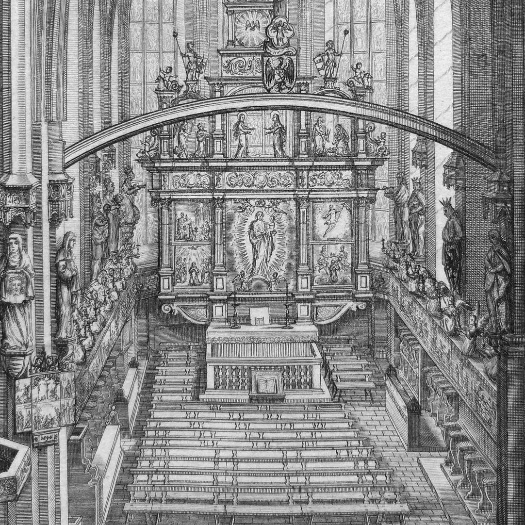 """Urbis Norimbergensis Insigniorum Templorum…"" Frauenkirche (Our Lady´s Church) Main altar"
