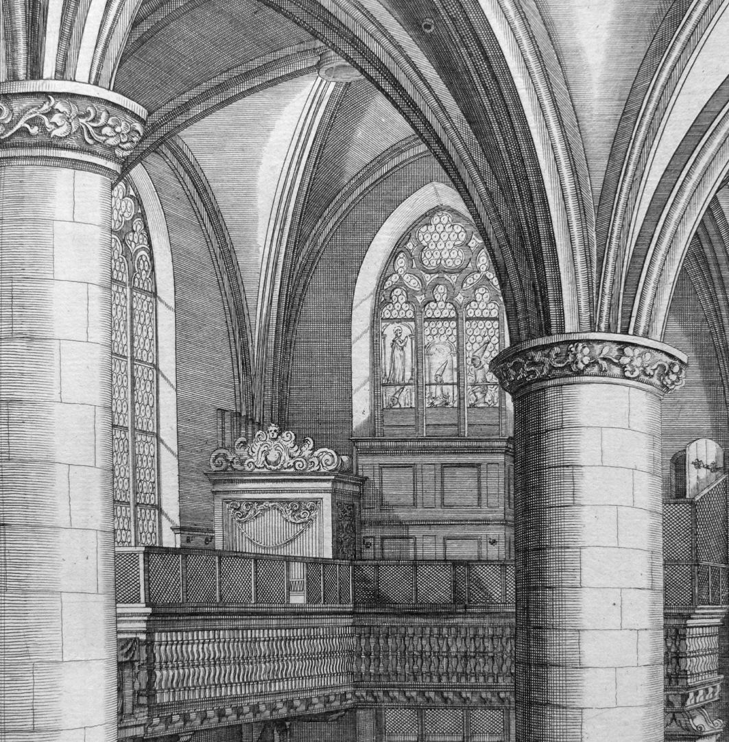 """Urbis Norimbergensis Insigniorum Templorum…"" Frauenkirche (Our Lady´s Church) View of the left gallery"