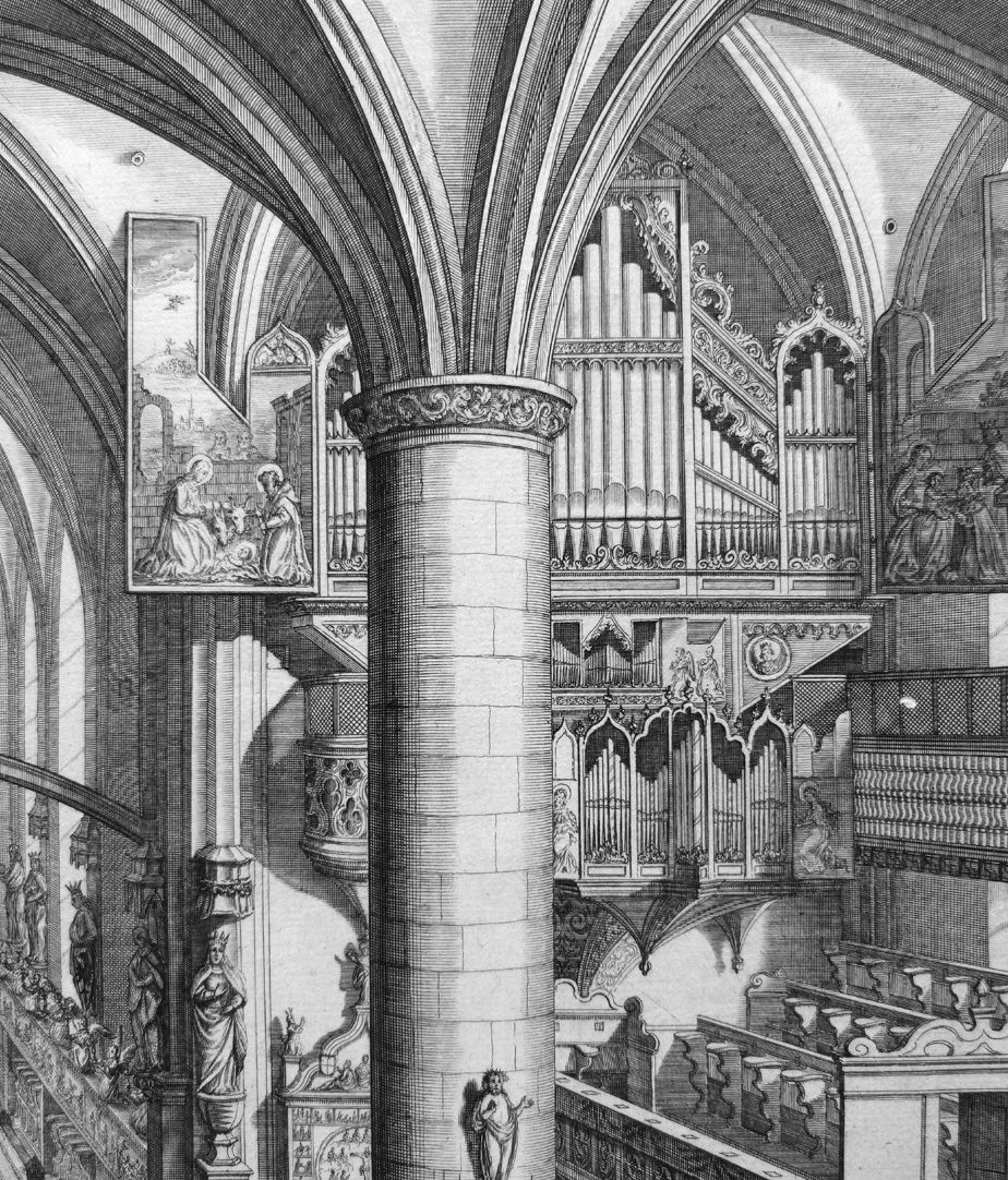 """Urbis Norimbergensis Insigniorum Templorum…"" Frauenkirche (Our Lady´s Church) Main organ"