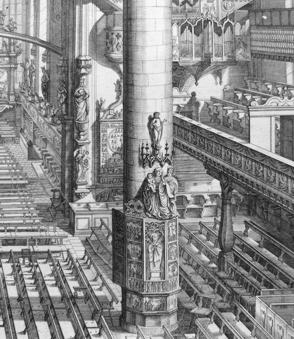 """Urbis Norimbergensis Insigniorum Templorum…"" Frauenkirche (Our Lady´s Church) View of the interior"