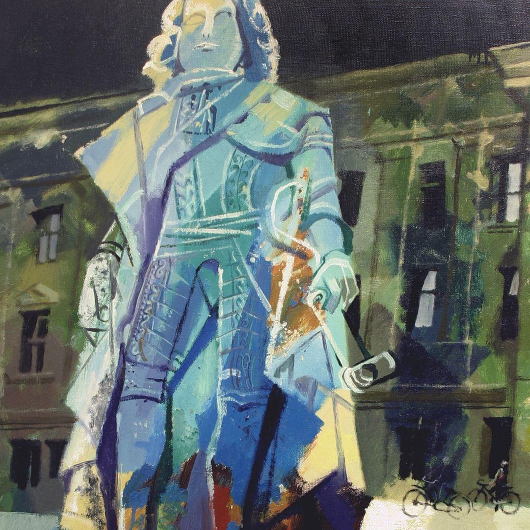 Statue of Margrave Frederick of Brandenburg-Bayreuth Detailed view