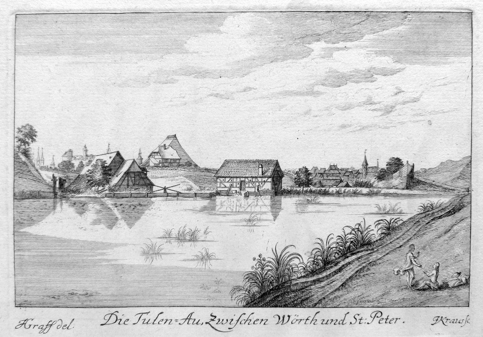 The Tulen-Au (Tullnau), between Wöhrd and St. Peter