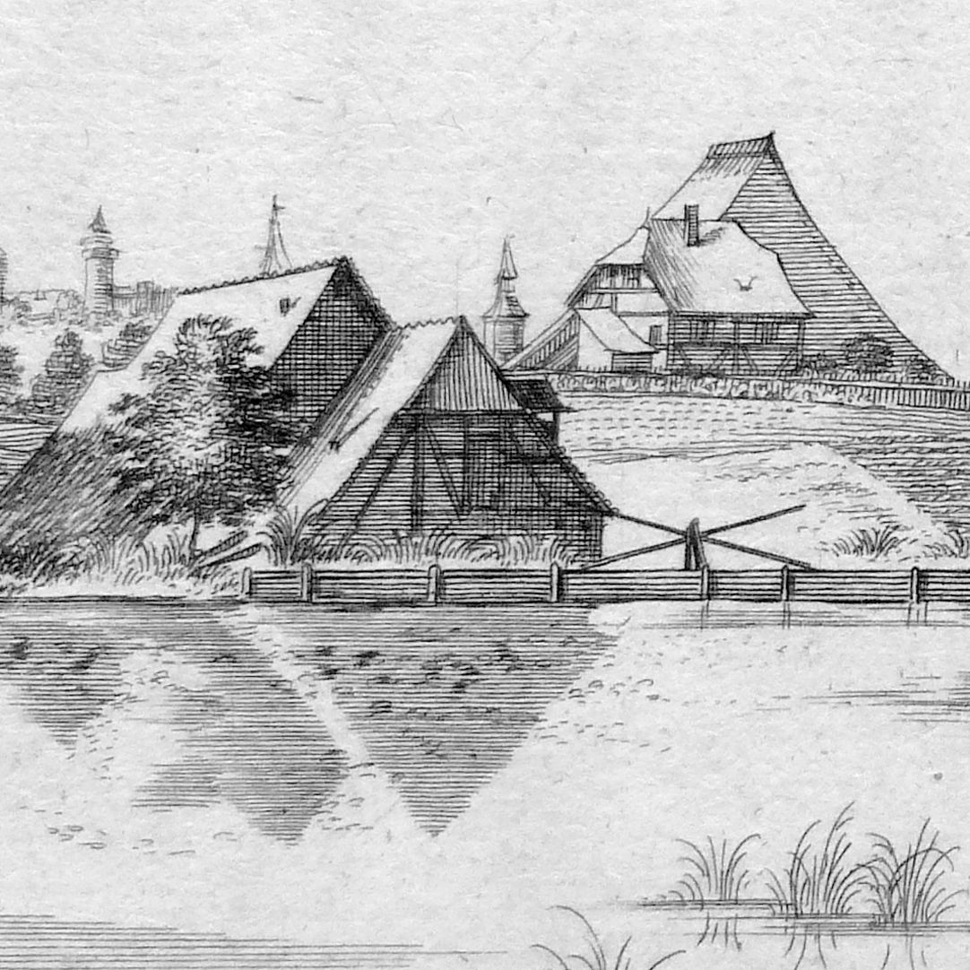 The Tulen-Au (Tullnau), between Wöhrd and St. Peter Detail
