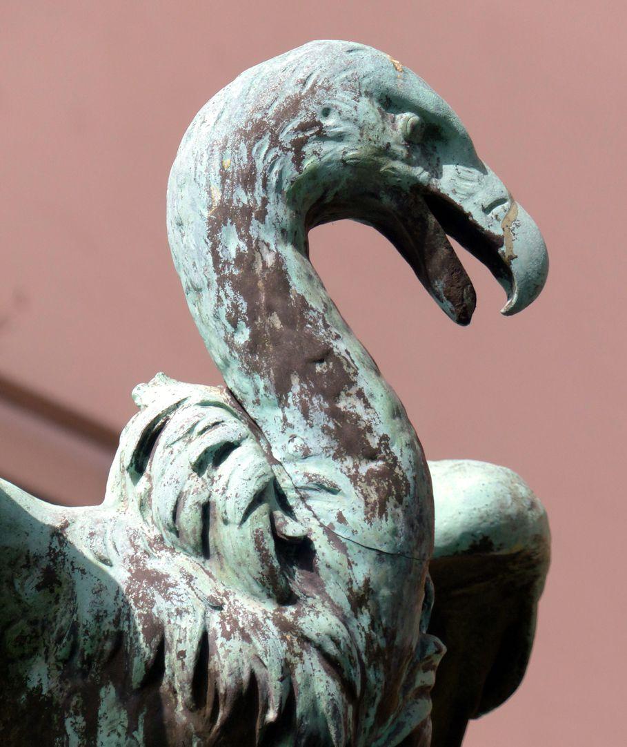 Geiersbrünnlein (Little vulture fountain) Vulture head, lateral view