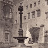 Fountain in the Court Yard of the City Hall