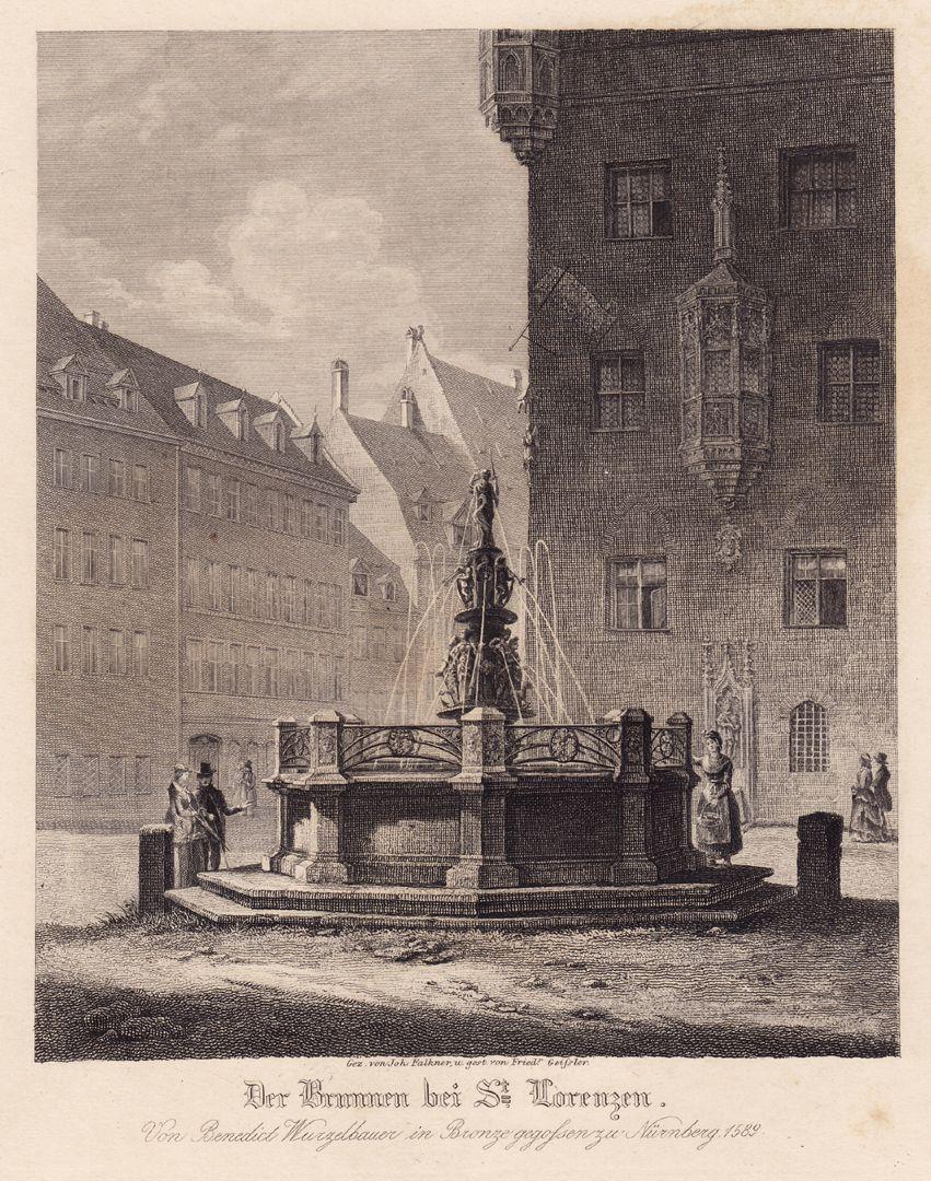"""Fountain at St. Lorenz-Church """"Brunnen bei St. Lorenz"""""""