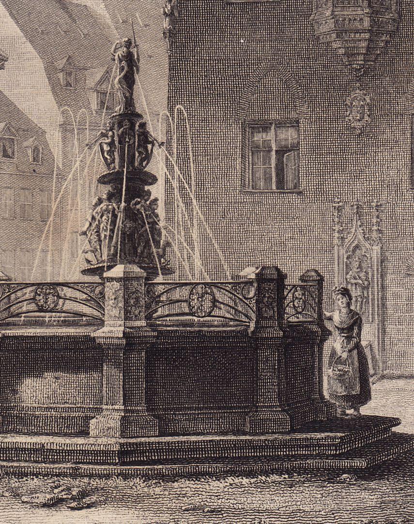 Fountain at St. Lorenz-Church Detail