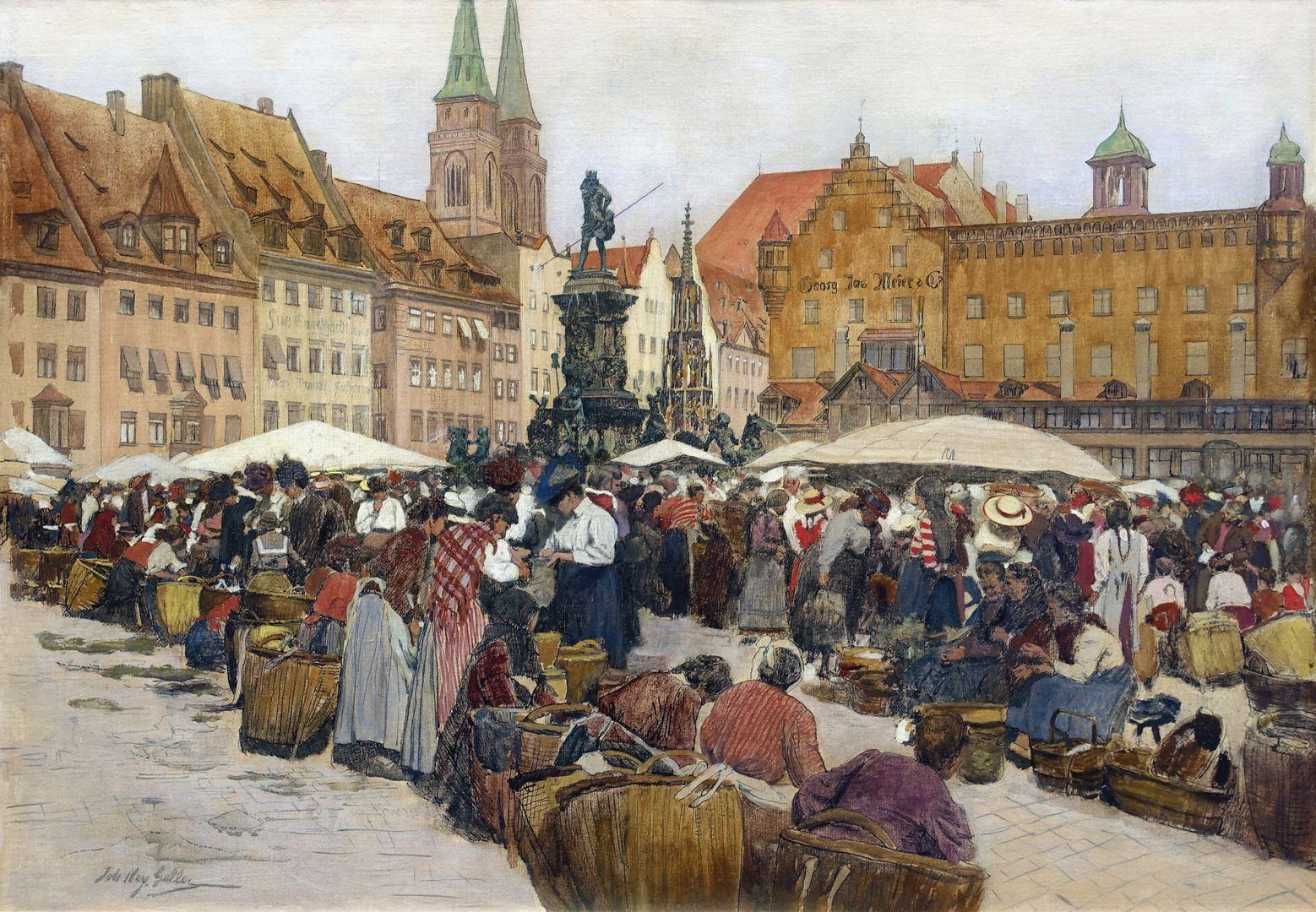 Main market in Nuremberg
