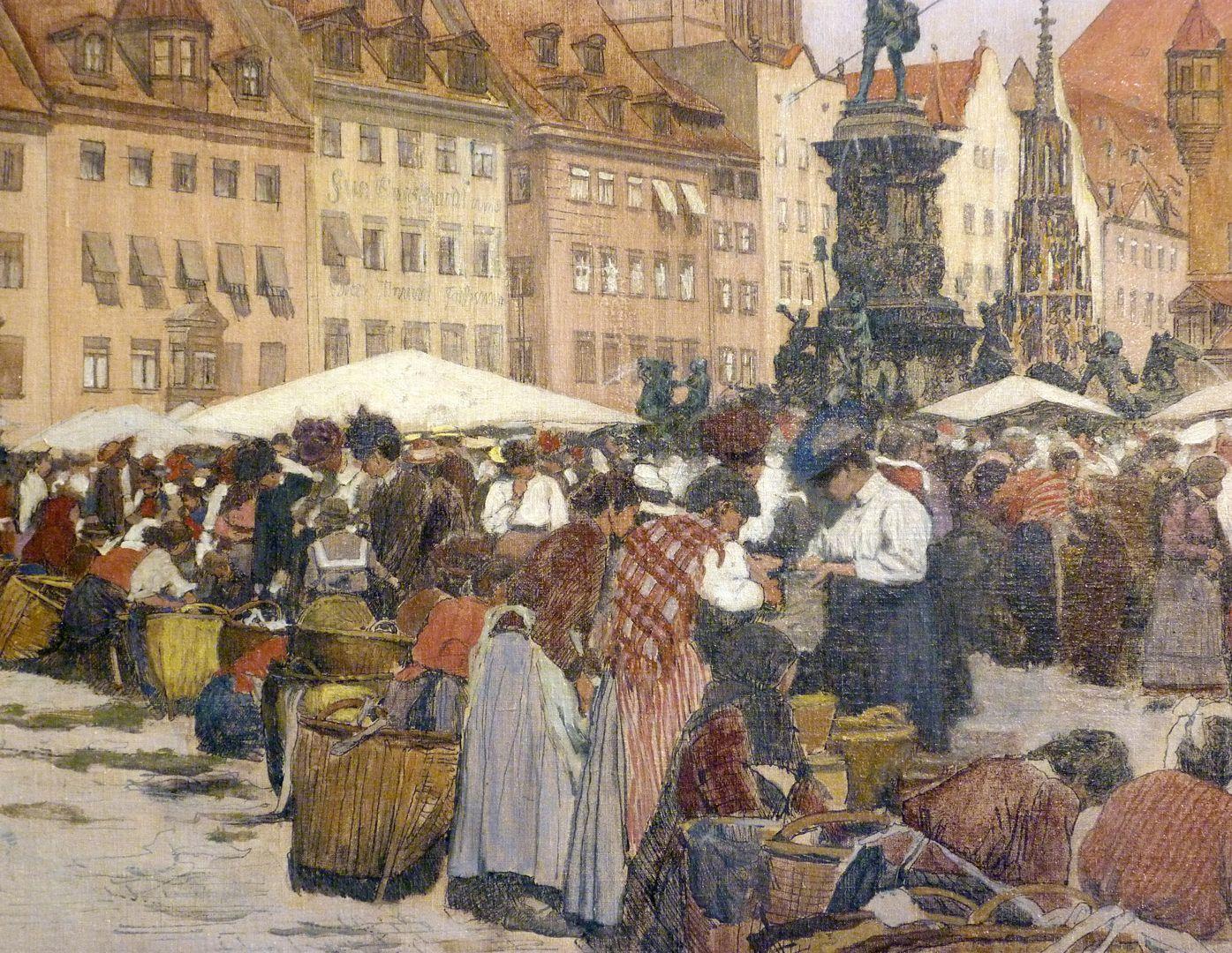 Main market in Nuremberg Left lower segment