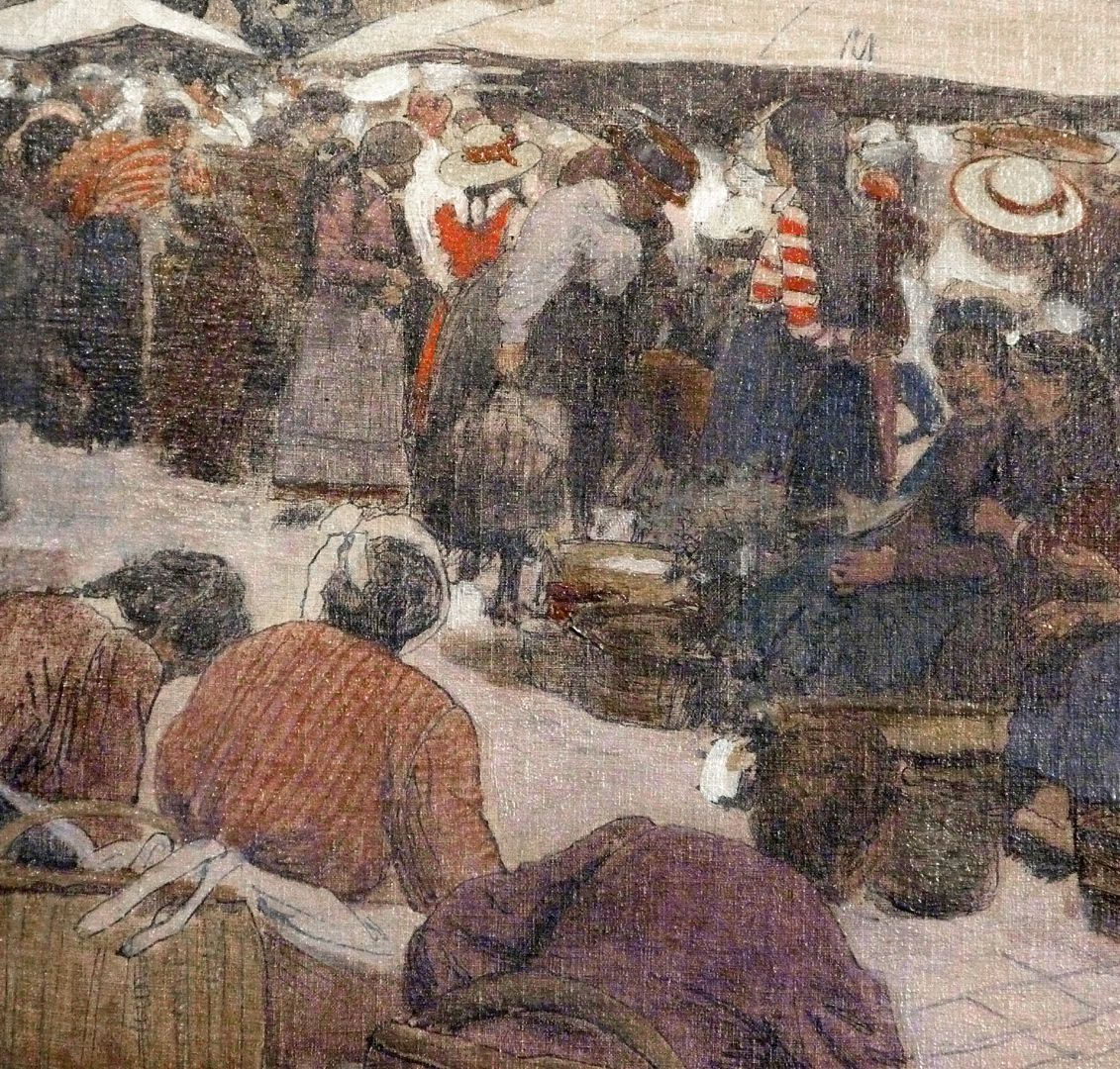 Main market in Nuremberg Market women, detail