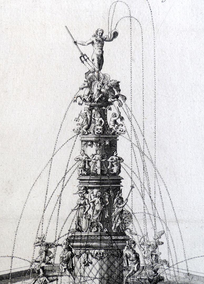 Neptune fountain Fountain column