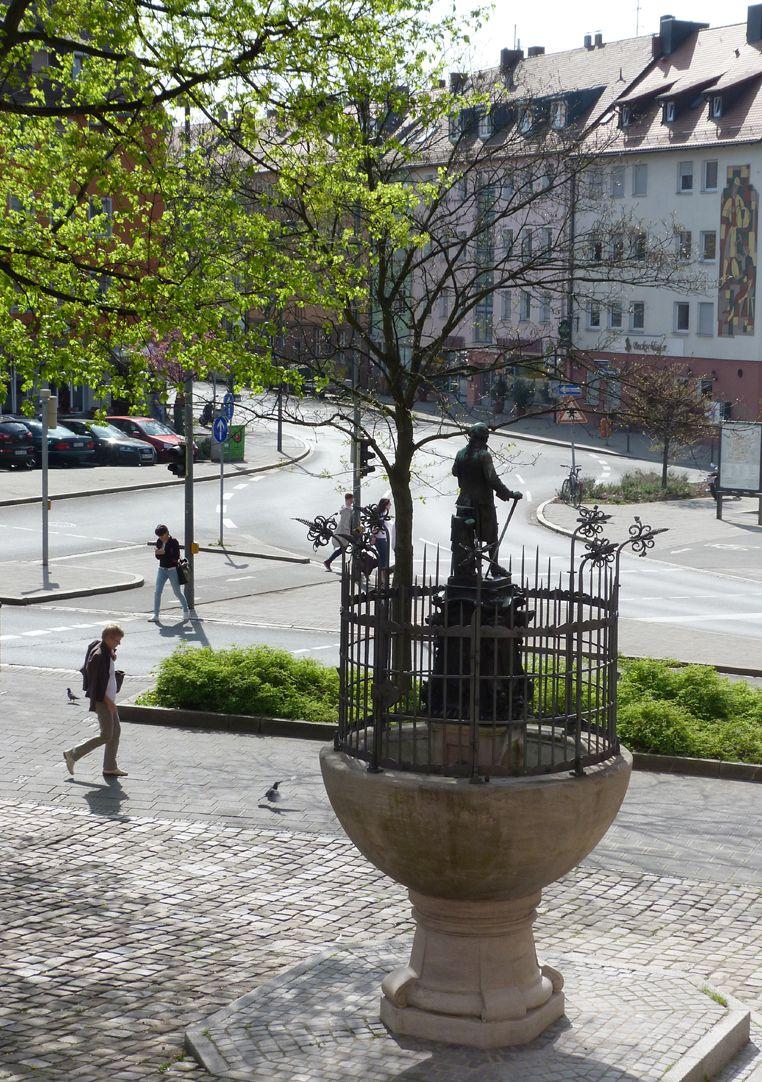 Grübelsbrunnen Aufsicht von Nordwest