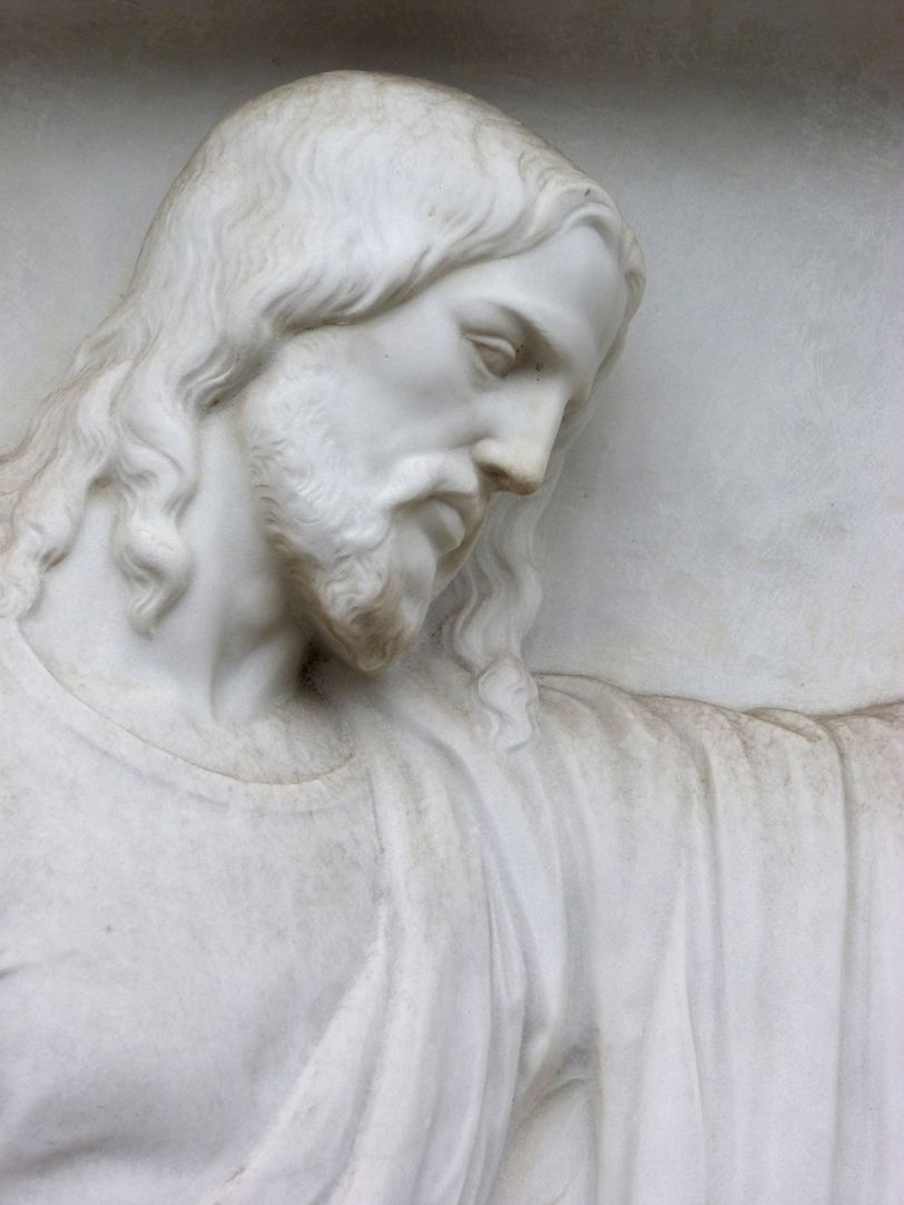 Sepulchral monument of the family Zeltner Head of Jesus