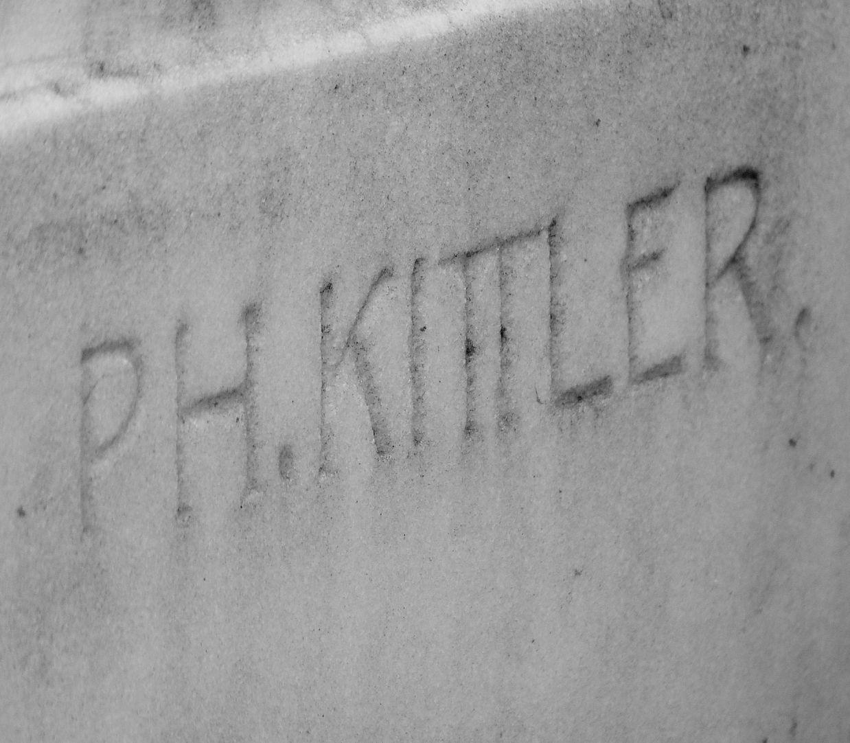 Sepulchral monument of the family Zeltner Artist's signature at the lower right corner