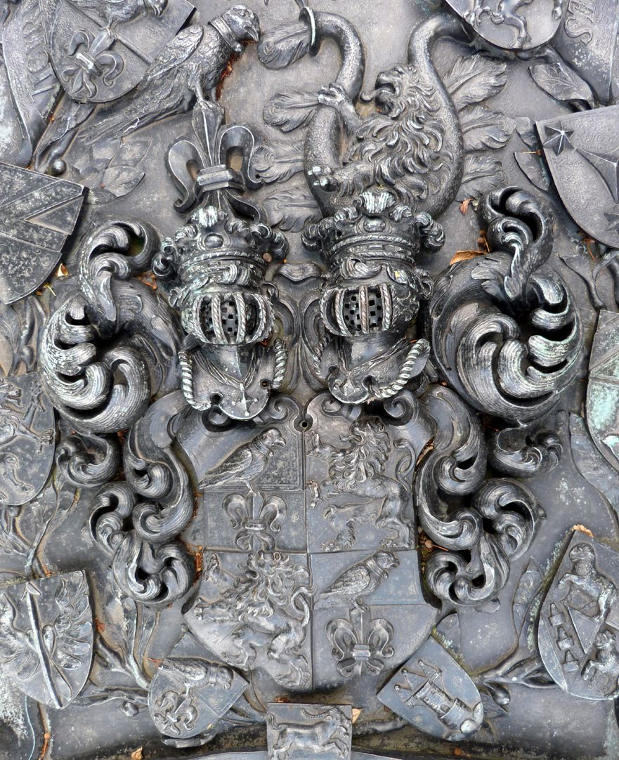 Epitaph of Andreas Georg Paumgartner Coat of arms of the Paumgartners with crest