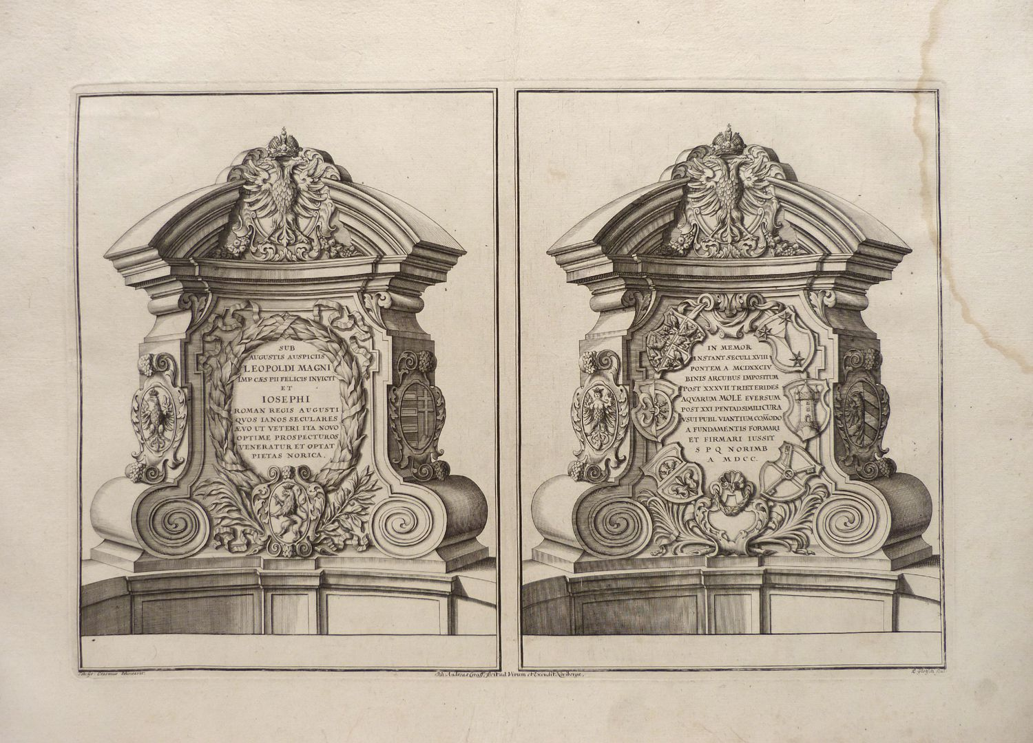 Pulpits of the Museum Bridge with inscriptions