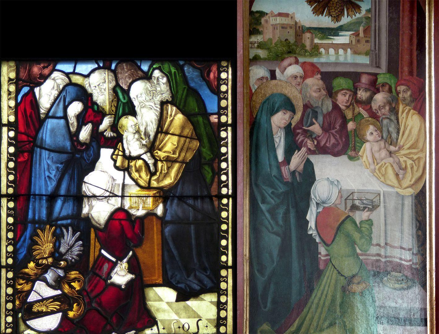 Beerbacher Altar Vorlage für Beerbach: ein Fenster von 1505 nach einem Entwurf von Hans Baldung Grien (ehemals im Kreuzgang des Nürnberger Karmelitenklosters)