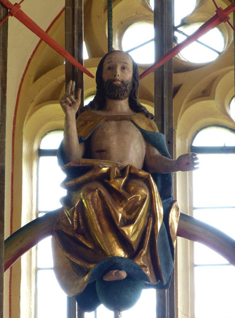 Gutenstetten Altar Pinnacle decoration: Christ as the judge of the world