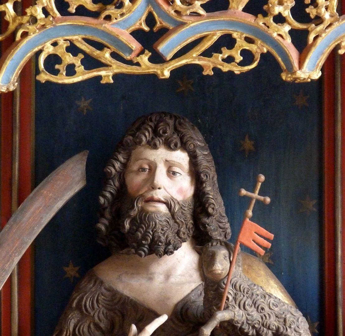 Gutenstetten Altar Alter shrine, head of St. John Baptist