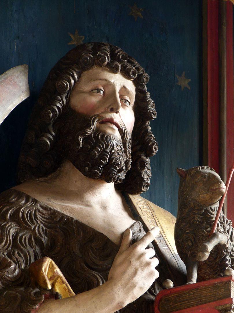 Gutenstetten Altar Altar shrine, head of St. John Baptist in half profile