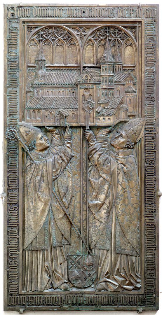 Memorial panel for Hariolf and Erlolf Memorienplatte für Hariolf und Erlolf