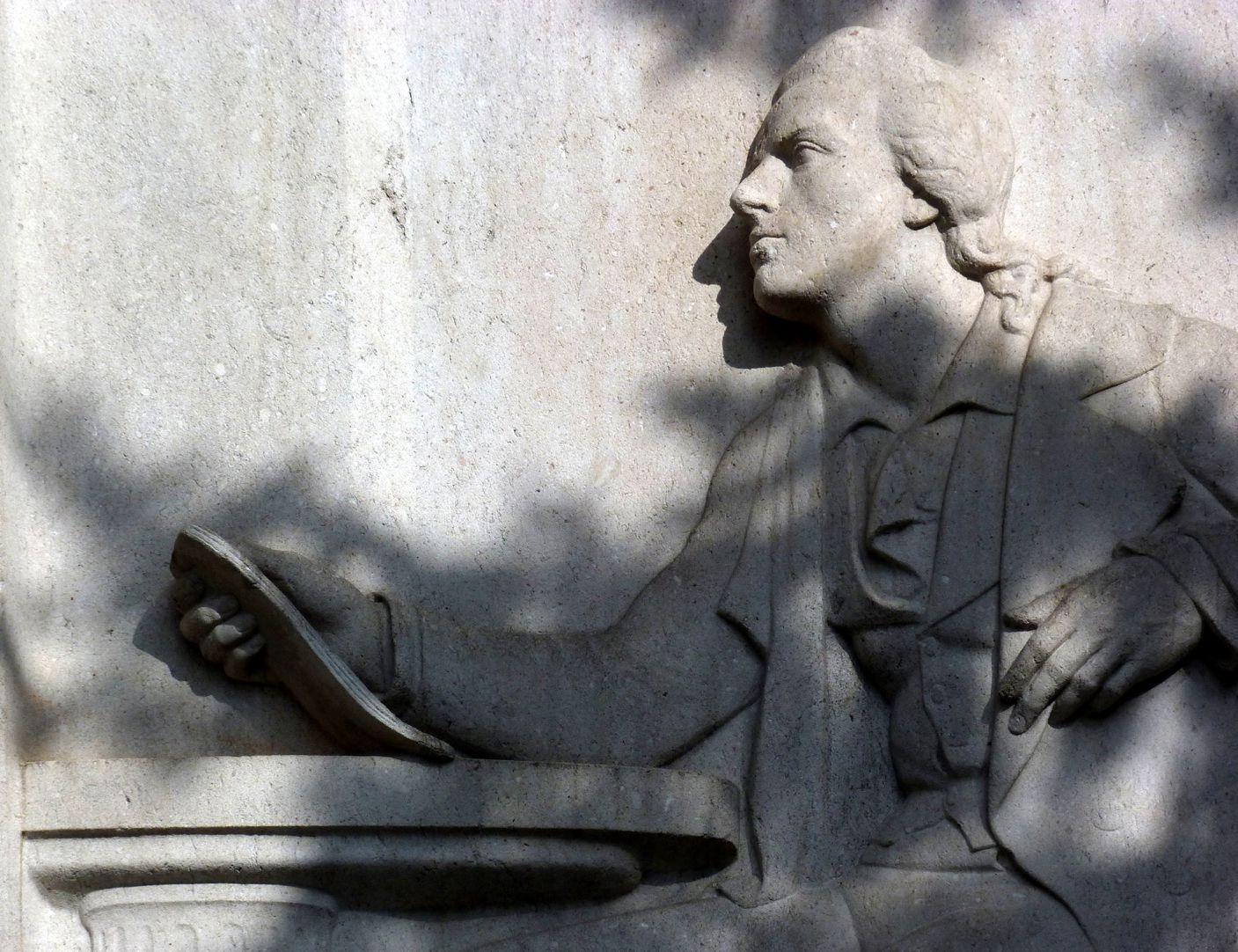 Schiller Monument The poet´s profile