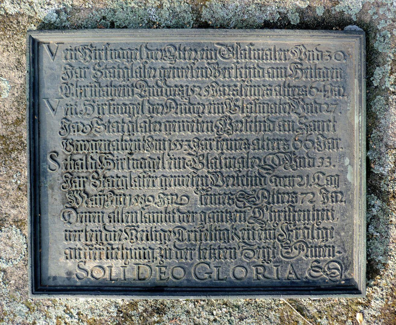 Hirsvogel Epitaph Brassplate