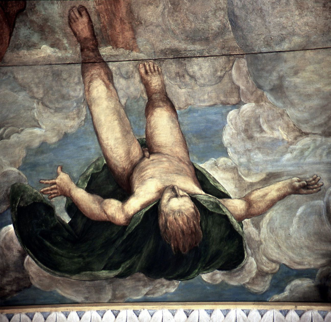 The fall of Phaethon, ceiling painting Ceiling, detail: Falling Phaeton
