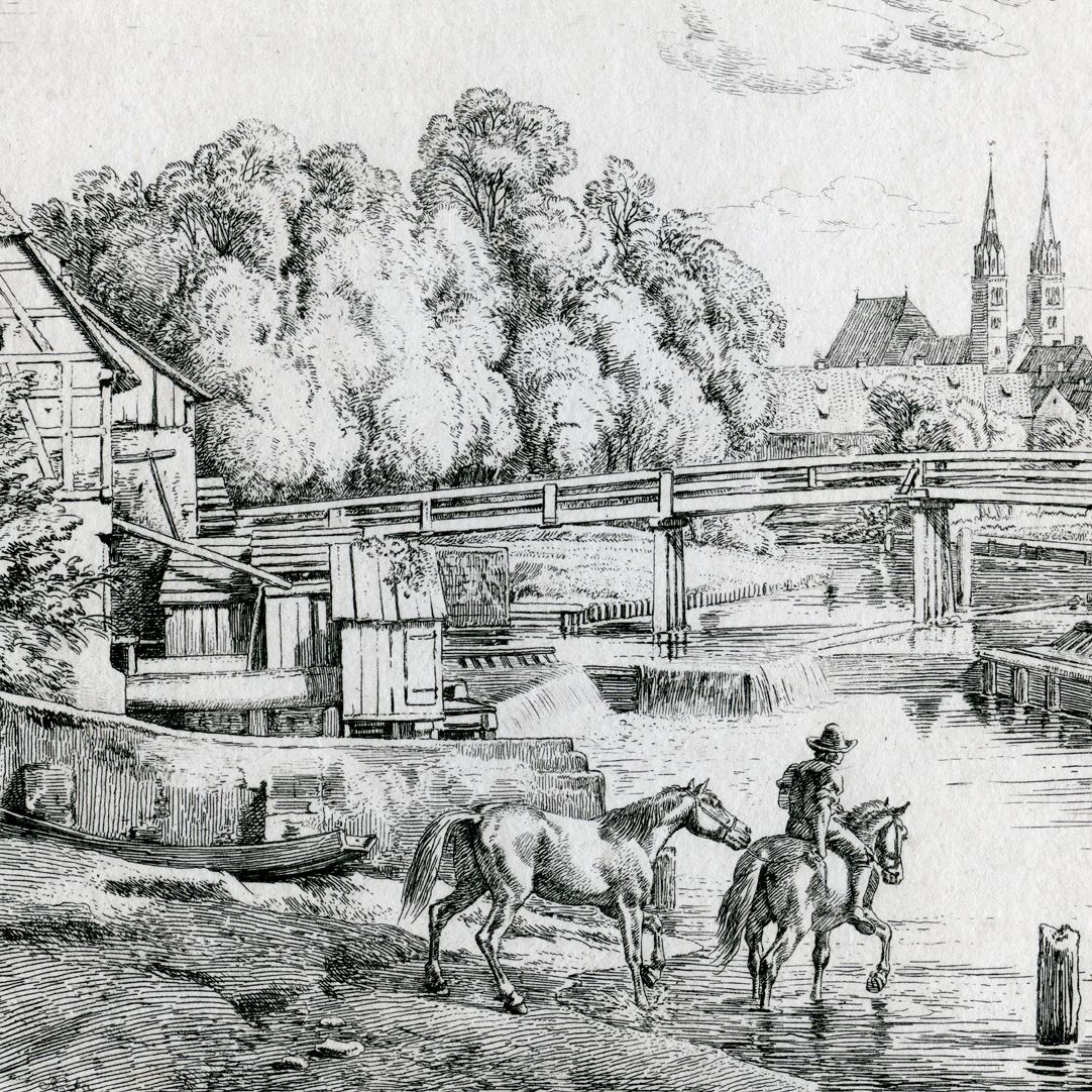 In the proximity of Weidenmühle, near Nuremberg Left half of the picture