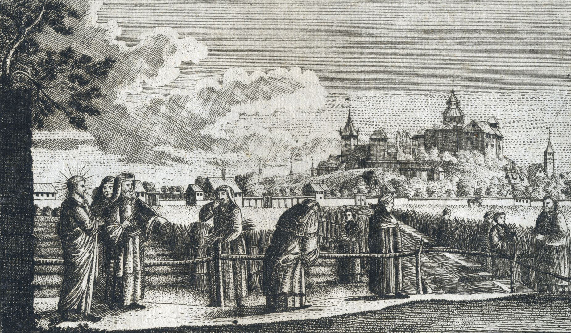 Prospect der Johannes_Felder bei Nürnberg Bild