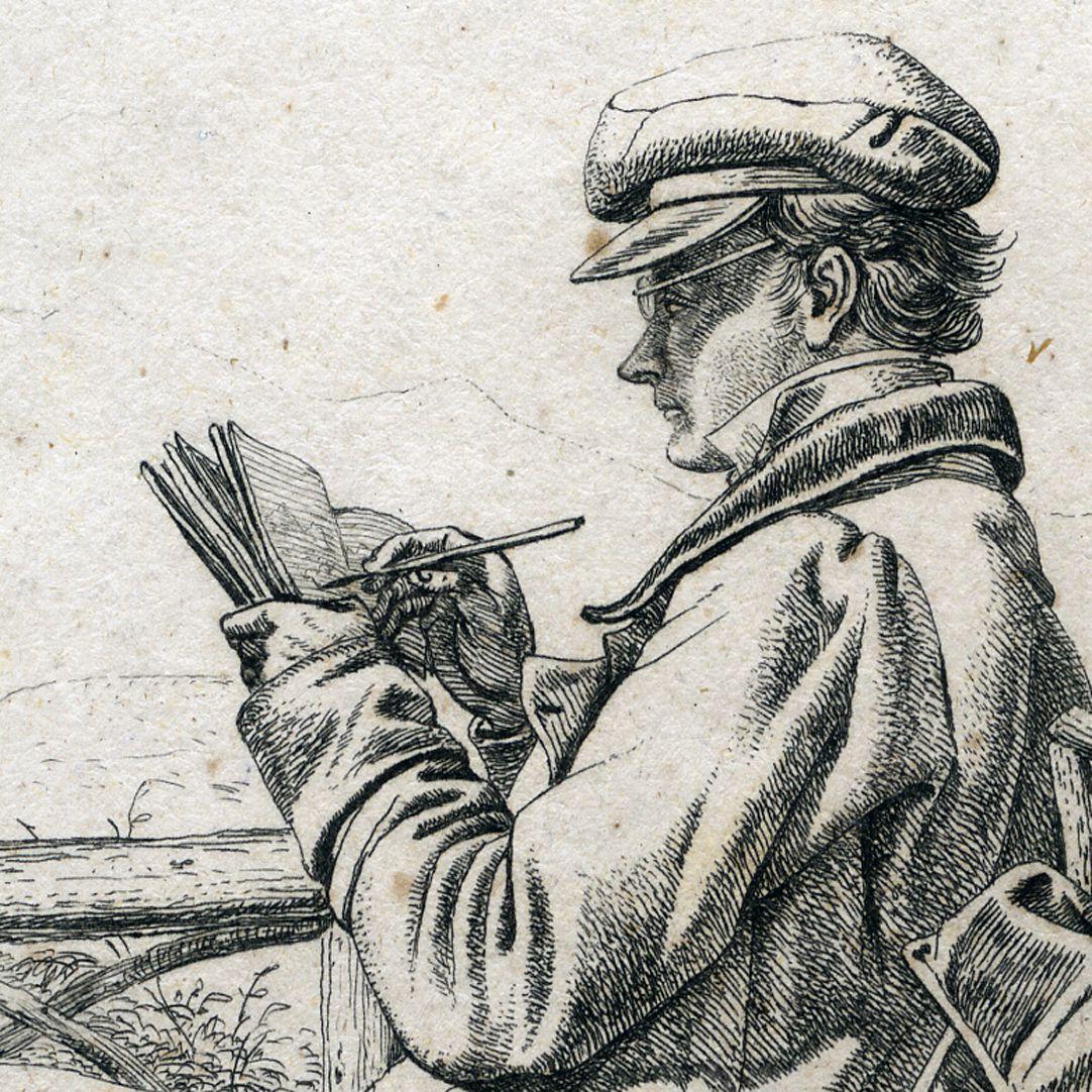 J.C. Erhard Portrait, detail