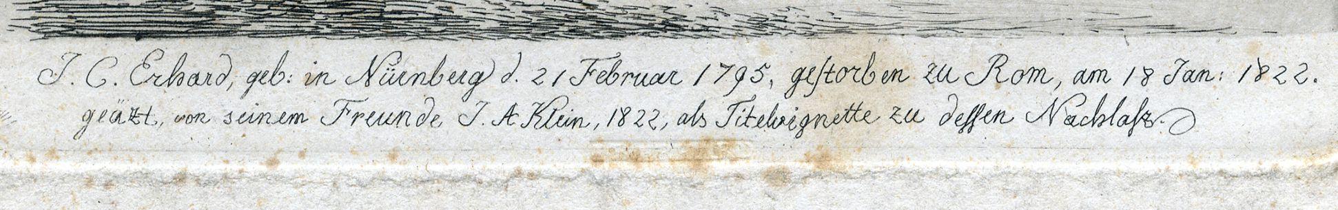 J.C. Erhard Signature
