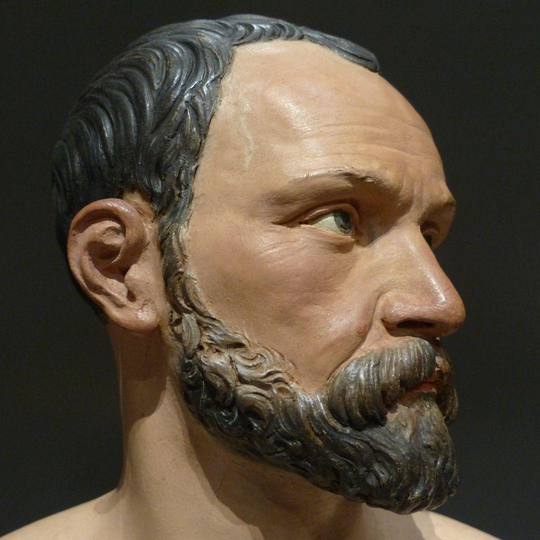 Self-portrait Detail, head