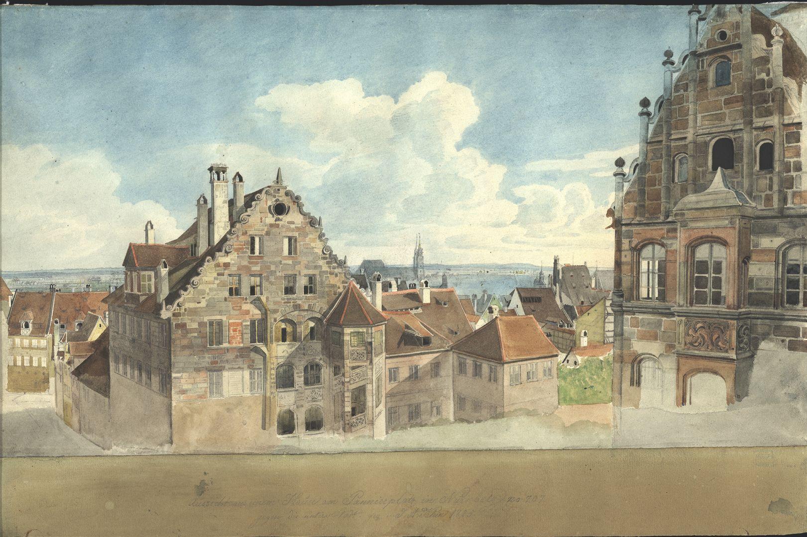 Nürnberg, Blick vom Paniersplatz auf die Stadt