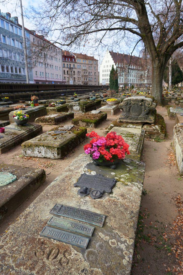 Johann Pachelbel Gravesite Location in the burial ground