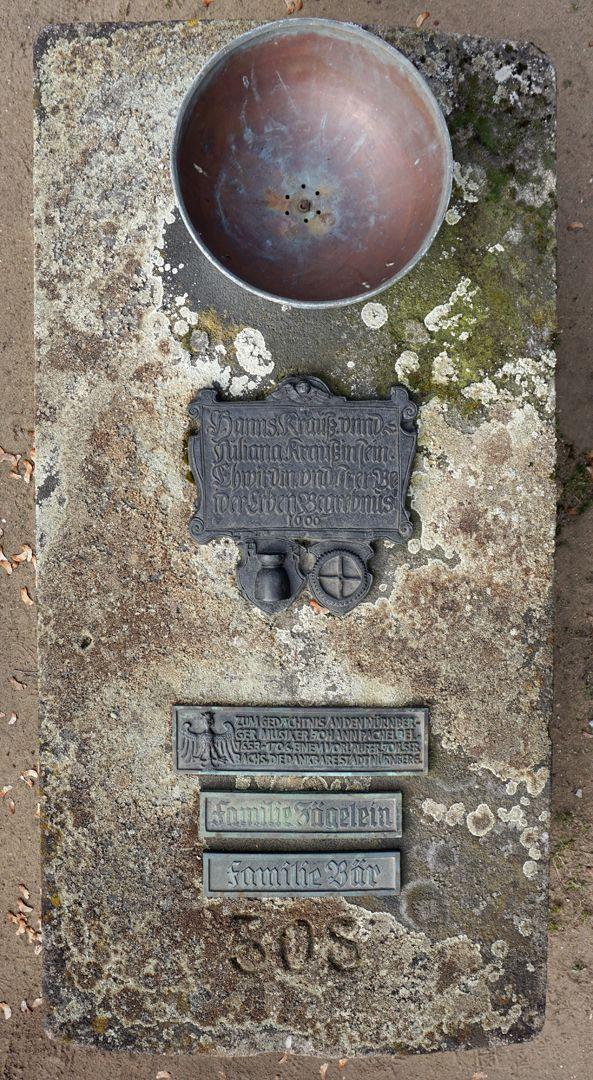 Johann Pachelbel Gravesite Gravesite from above