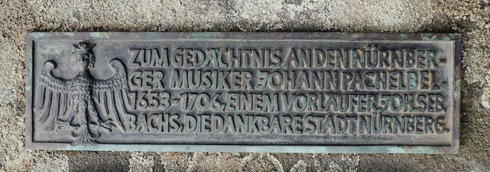 Johann Pachelbel Gravesite Commemorative plaque
