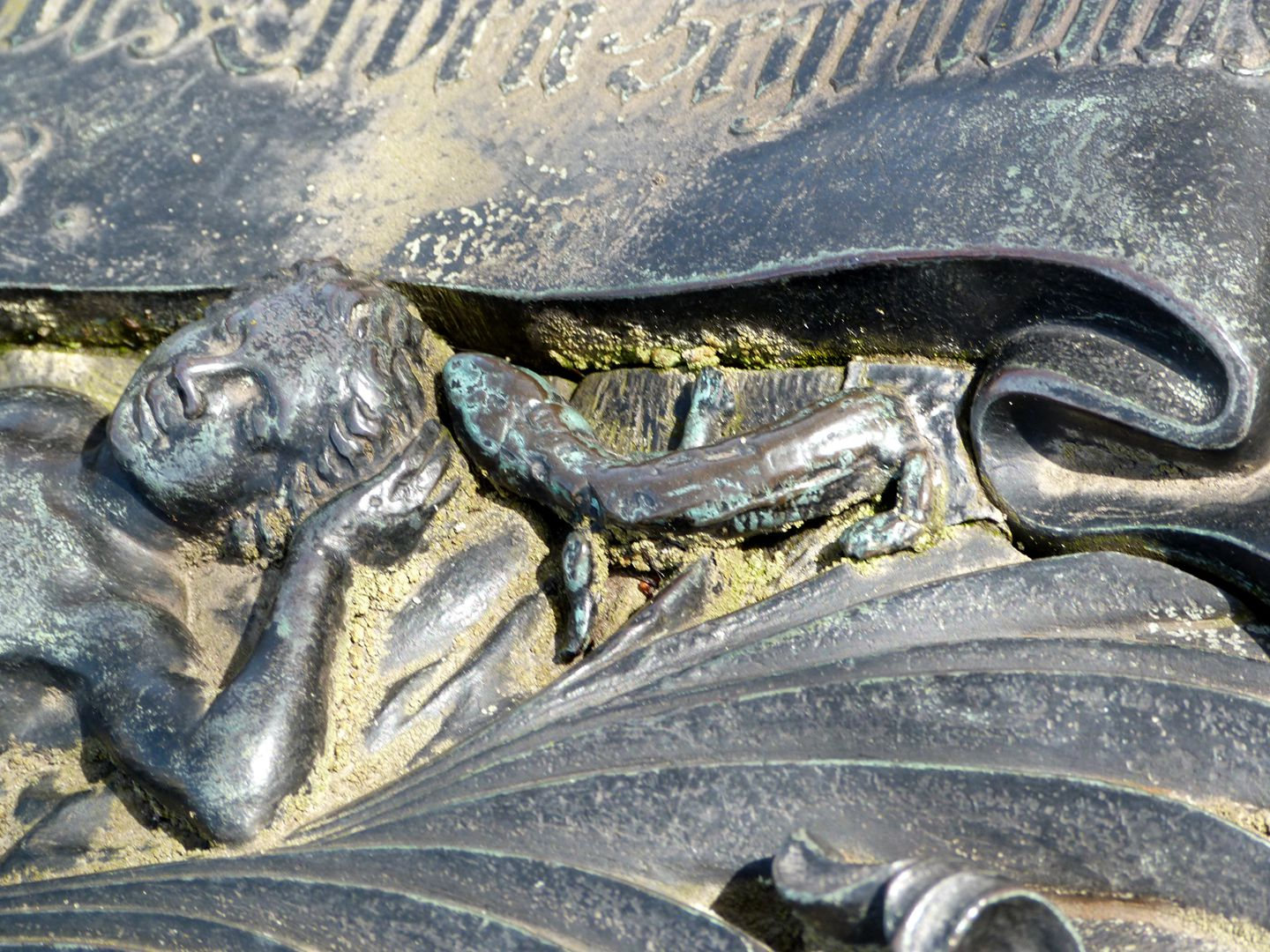 Tomb of Georg Wolff Pantzer and his spouse Anna Maria Elisabetha Ruland Detail with lizard