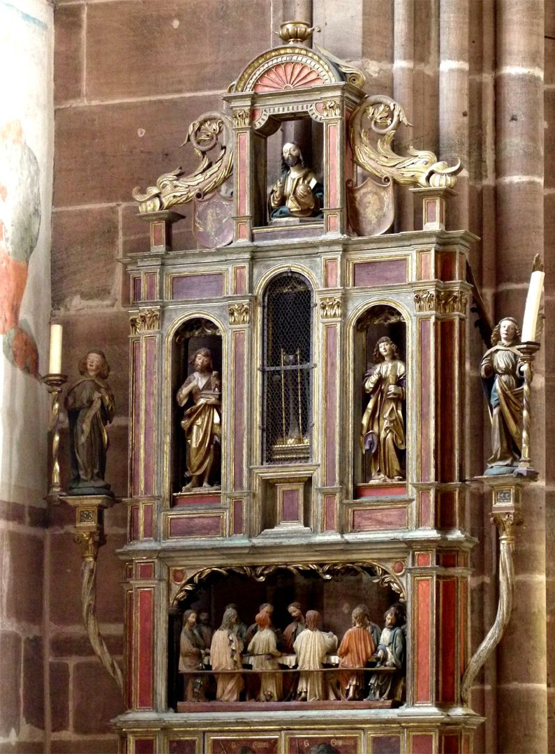 Johannesaltar (Altar der beiden Johannes) Dreigeschossiger Altaraufbau
