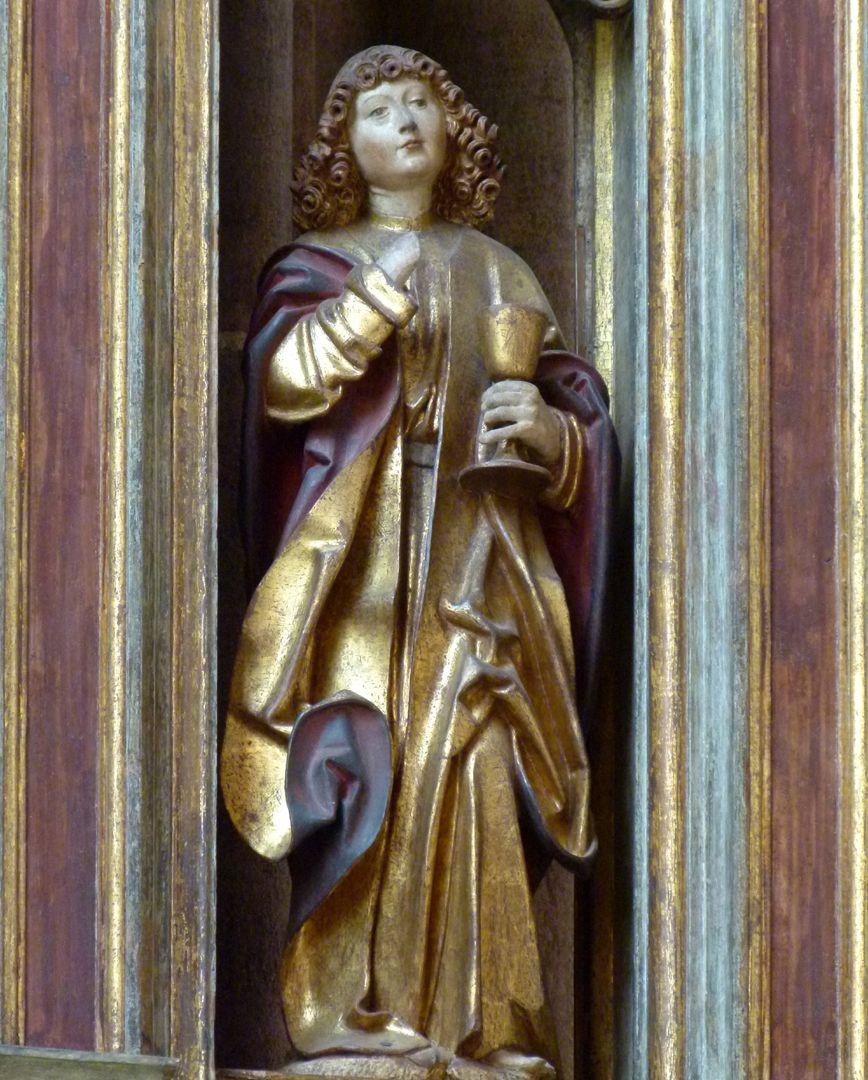 Johannesaltar (Altar der beiden Johannes) Johannes der Evangelist mit Kelch