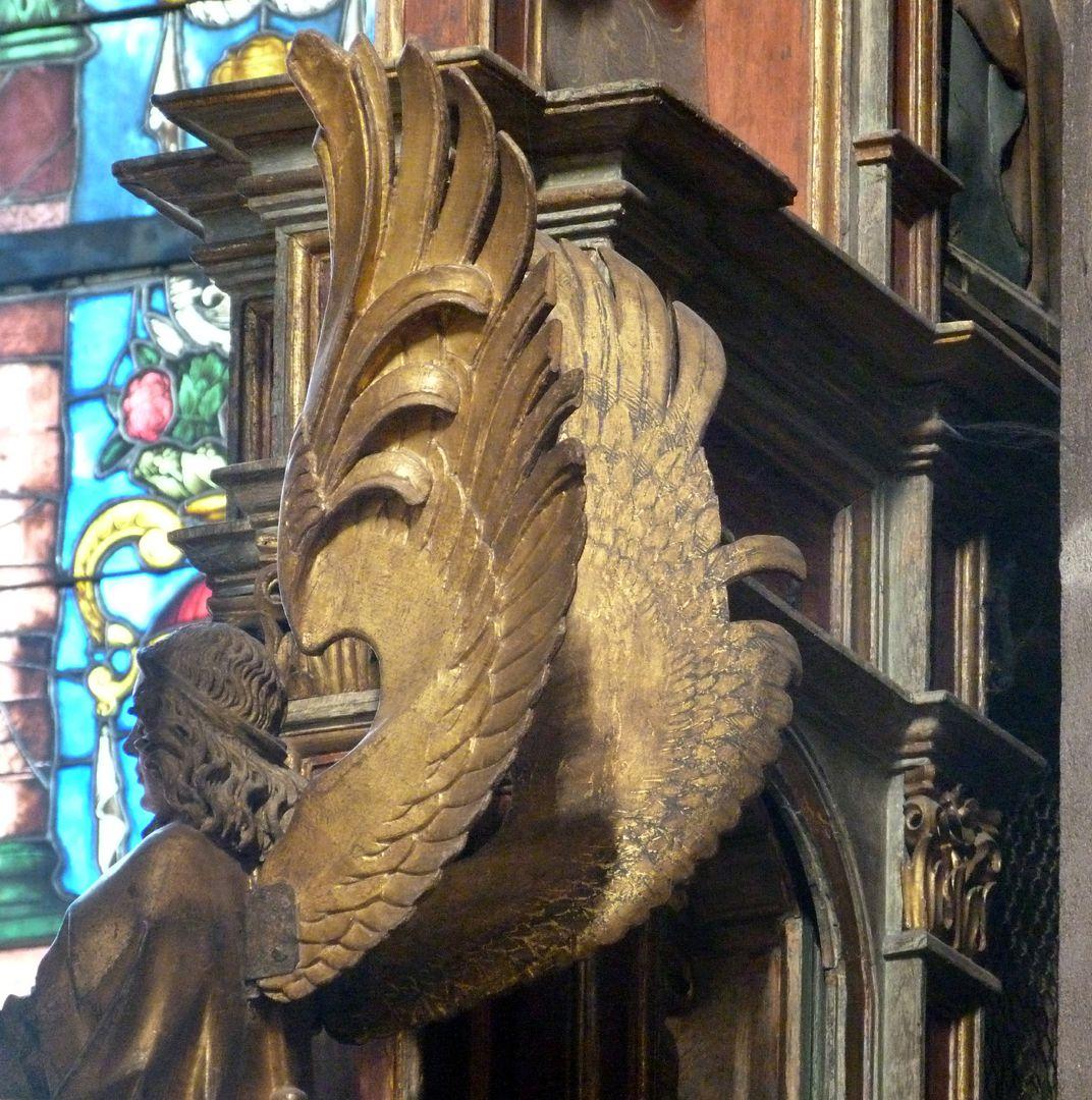 Johannesaltar (Altar der beiden Johannes) Flügel des rechten Leuchterengels