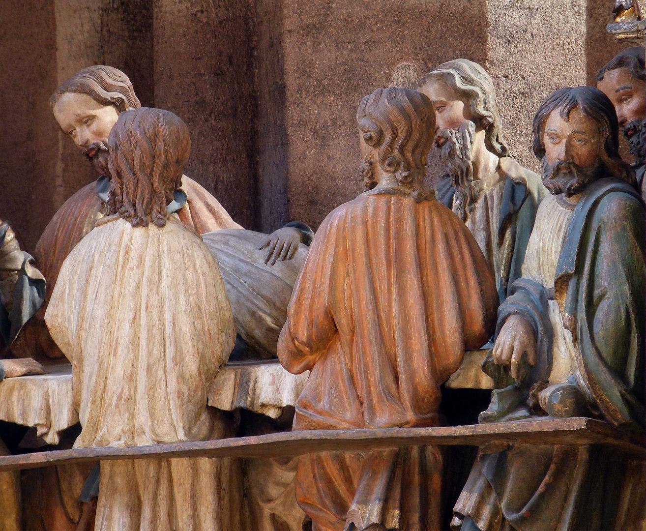 Johannesaltar (Altar der beiden Johannes) Abendmahl, Detail mit Judas
