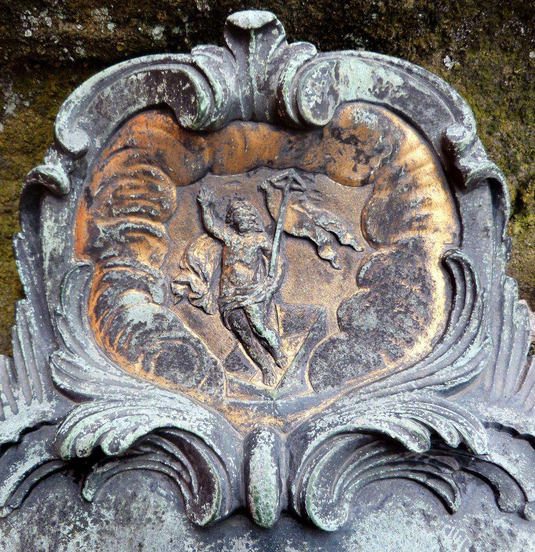 Tomb of Daniel Weidner and his spouse Maria Regina Leutner Ostseite, Detail mit dem wiederauferstandenen Jesus Christus
